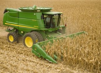 cosechadora, campo